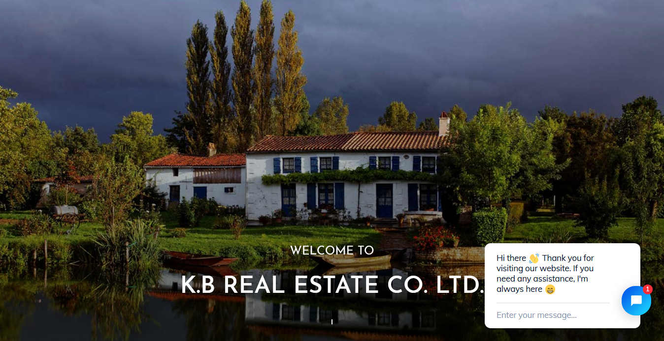 KB Real Estate website developed by CyberDream Developers