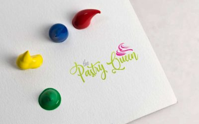 Pastry shop logo design and mockup