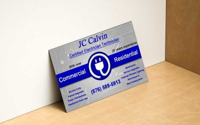 Electrician's business card design