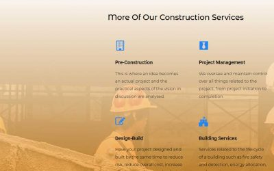 Construction Company Website by CyberDream Developers
