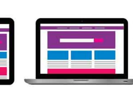 responsive website on laptop, tablet, and mobile